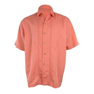 Caribbean Men's Embroidered Short Sleeve Shirt
