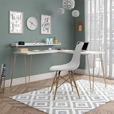 Avenue Greene Archwood L Desk with Riser