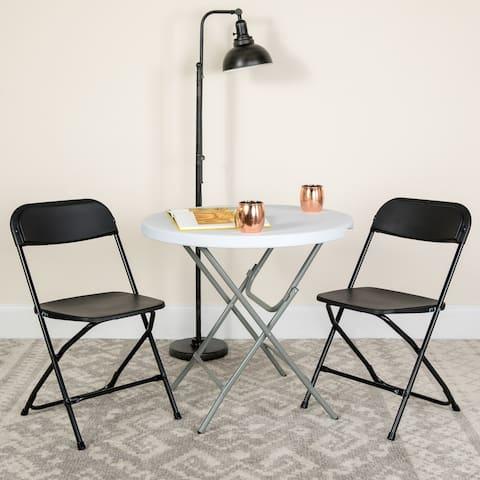 10 Pack 650 lb. Capacity Premium Plastic Folding Chair