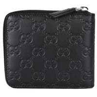 Gucci 473964 Black Leather GG Guccissima Zip Around Small Wallet - 5: x 4""