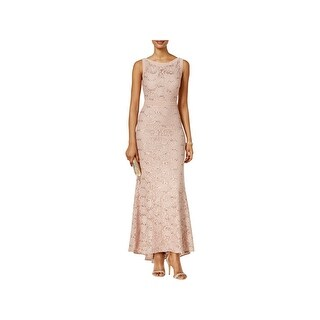 Nightway Womens Evening Dress Illusion Sequined