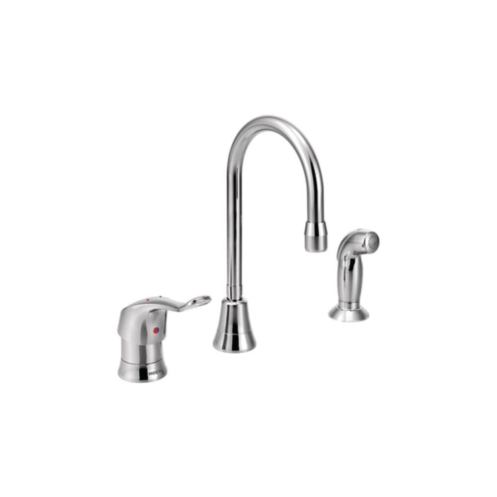 Moen 8138  M-DURA Commercial Kitchen Faucet - Chrome (Chrome) -  Overstock