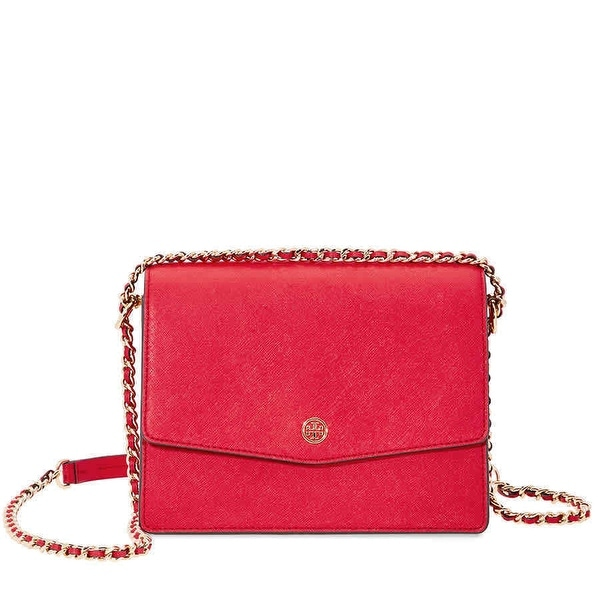 61c2bc66489 Shop Tory Burch Leather Robinson Convertible Shoulder Handbag - Free ...