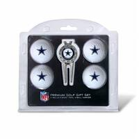 Team Golf  Dallas Cowboys Pack of 4 Golf Balls and Divet Tool Gift Set