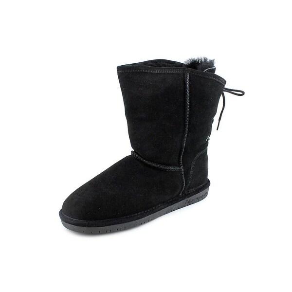 Bearpaw Elizabeth Women Round Toe Suede Black Winter Boot