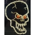 "16"" Lighted Halloween Spooky Skull Window Silhouette Decoration - Thumbnail 0"