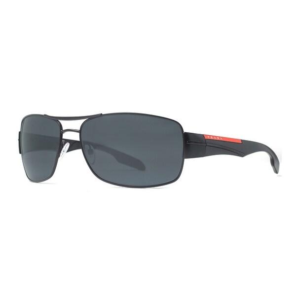 ea30d42c0c Prada Sport SPS 53N 1B05Z1 Linea Rossa Black Polarized Navigator Sunglasses  - 65mm-16mm-