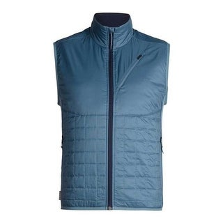 Icebreaker Men's Helix Insulated Vest Granite Blue/Midnight Navy