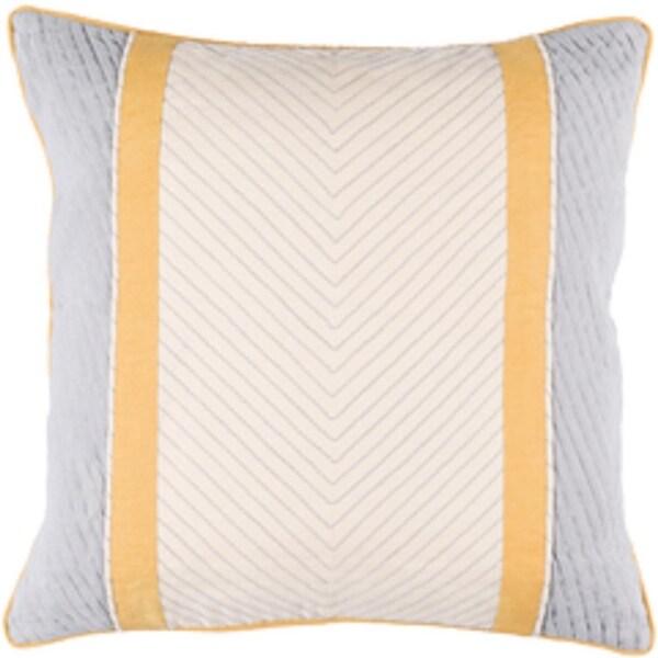 "20"" Gray and Cream Contemporary Design Square Throw Pillow with Sewn Seam Closure"
