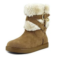 G By Guess Alixa Women  Round Toe Faux Fur Tan Winter Boot