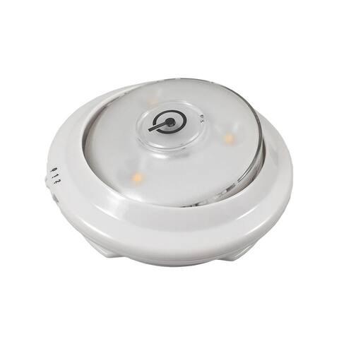 Westek LPL623WXLL Swivel Accent LED Puck Light with Sensor, White, 3-Pack