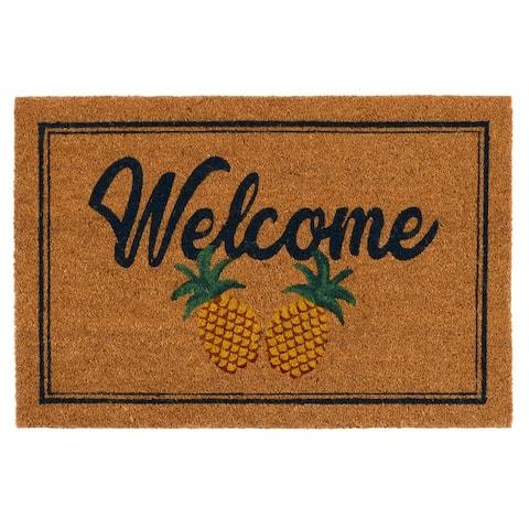 Pineapples 24x36 Coir Doormat by Kosas Home