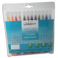 Manuscript Colour Creative Markers Brush Tip 12/Pkg-