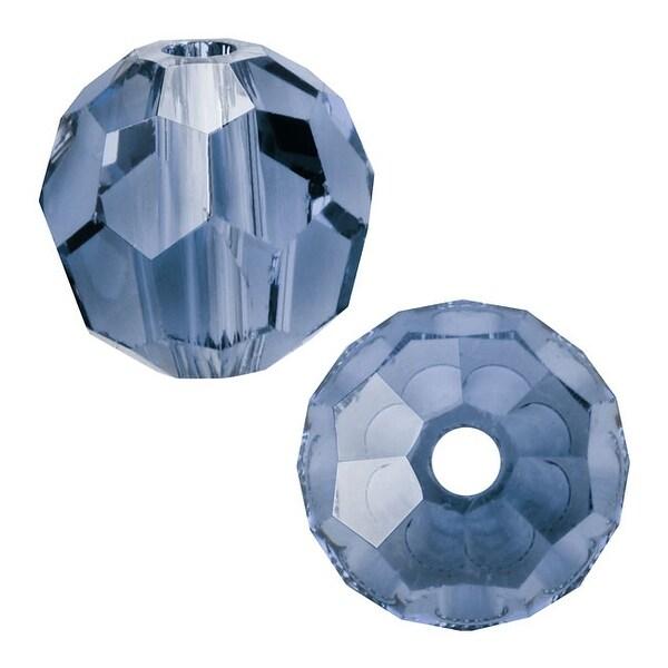 Swarovski Elements Crystal, 5000 Round Beads 8mm, 8 Pieces, Denim Blue