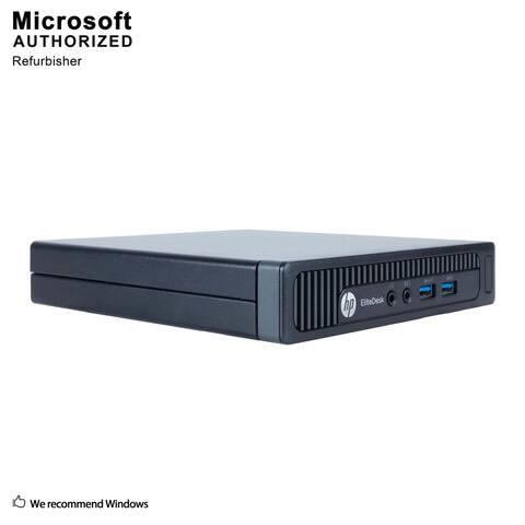 HP EliteDesk 800G1 Mini,Intel i5 4590T 2.0G,8G DDR3,320G HDD,WIFI,DP Port,HDMI Adapter,USB 3.0,BT4.0,W10P64(EN/ES)-Refurbished