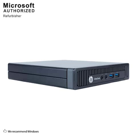 HP EliteDesk 800G1 Desktop Mini Intel Core I5 4590T 2.0GHz 4GB RAM 250GB HDD W10P(EN/ES)-1 Year Warranty(Refurbished)