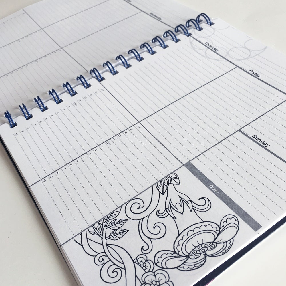 Action Publishing Undated Coloring Day Planner
