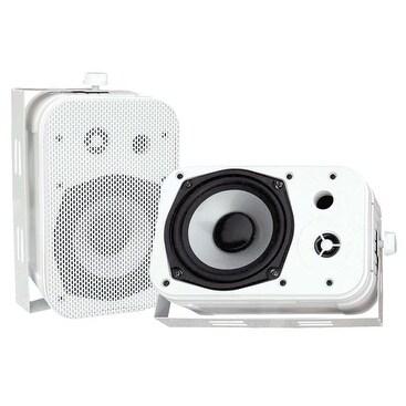 """5.25"""" Indoor/Outdoor Waterproof Speakers (White)"""