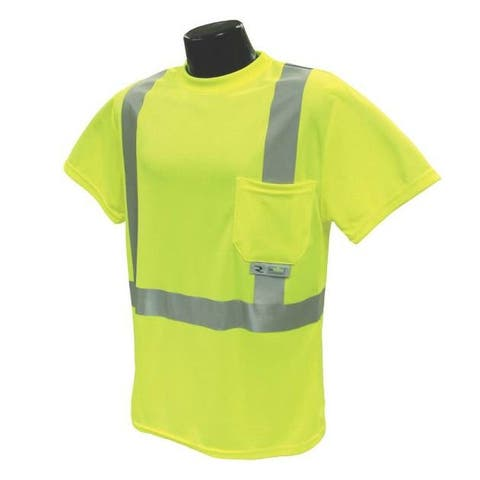 Radians ST11-2PGS-L Class 2 T-shirt Moisture Wicking, Green, Large