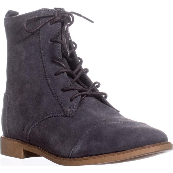 TOMS Alpa Lace-Up Boots, Dark Grey - 6.5 us / 37 eu