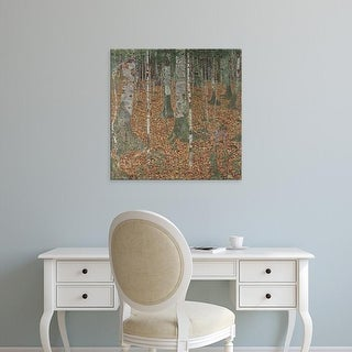 Easy Art Prints Gustav Klimt's 'Birch Forest' Premium Canvas Art