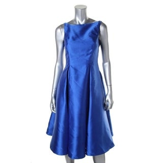 Adrianna Papell Womens Petites Shimmer Prom Formal Dress
