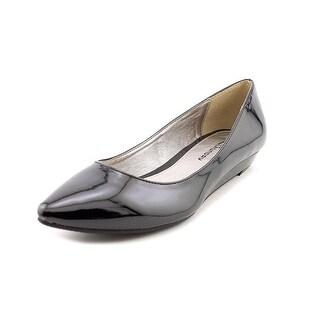 CL By Laundry Suzie Women Open Toe Synthetic Black Wedge Heel