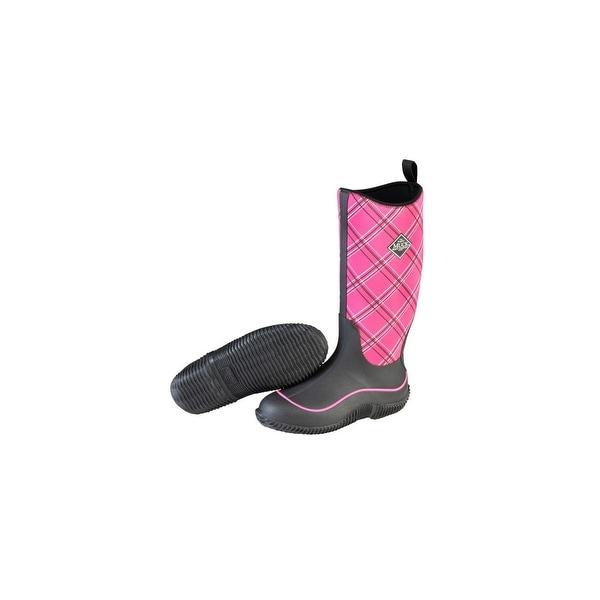 874e53228a0e Shop Muck Boots Black Pink Plaid Women s Hale Boot w  4mm CR Flex Foam -  Size 6 - Free Shipping Today - Overstock - 18778695