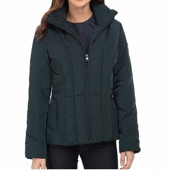 Calvin Klein Peacock Green Women's Size XL Short Down Jacket