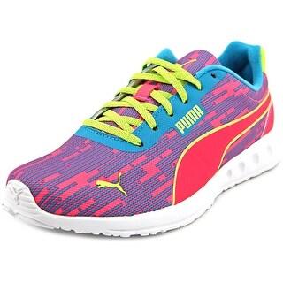 Puma Fallon Glitch Jr Round Toe Canvas Sneakers