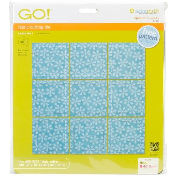"""Go! Fabric Cutting Dies-Square 2-1/2"""" Multiples"""