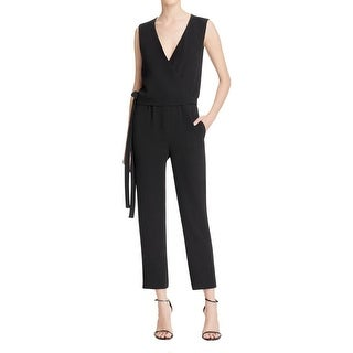 Theory Womens Alvmie Jumpsuit Side Tie V-Neck