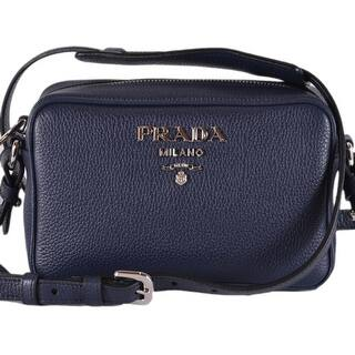 e983b2c3f441 Prada 1BH096 Baltico Blue Leather Bandoliera Small Crossbody Purse Bag