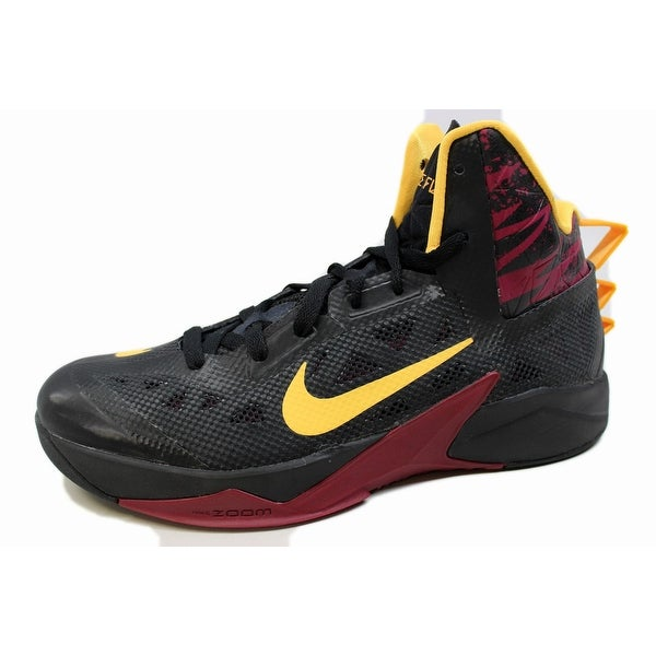 Nike Men's Zoom Hyperfuse 2013 Black/Laser Orange-Raspberry Red 615896-003