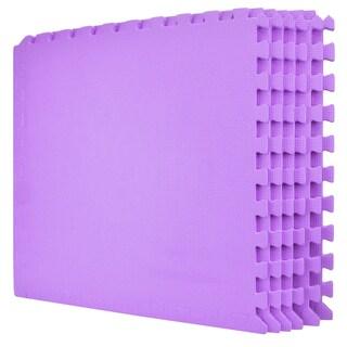"Wacces Multi-Purpose Floor Interlocking Foam Mat Tiles ( 24""x24"" ) (Option: Purple)"
