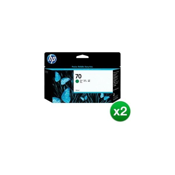 HP 70 130-ml Green DesignJet Ink Cartridge (C9457A) (2-Pack)