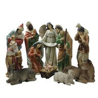"11 Piece Large Tranquil Religious Christmas Nativity Set 22.75"" - multi"