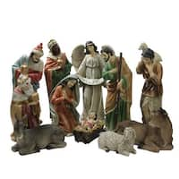 11 Piece Large Tranquil Religious Christmas Nativity Set 22.75""