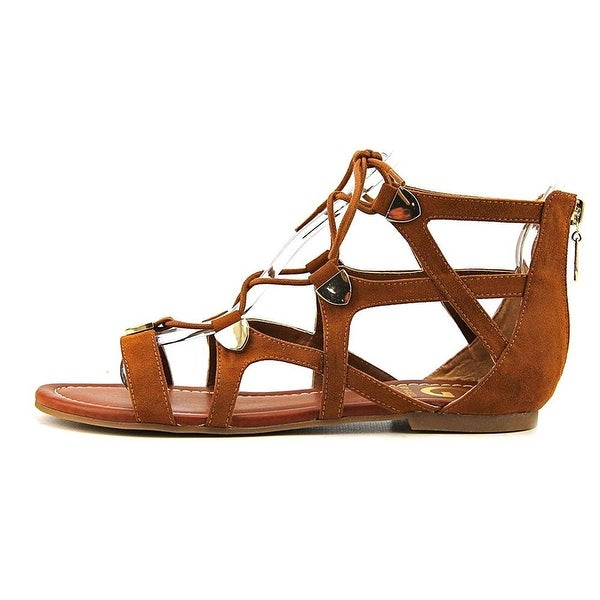 G by Guess Womens Lewy Fabric Open Toe Casual Gladiator Sandals