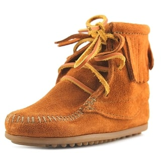 Minnetonka Tramper Boot Youth Round Toe Suede Brown Boot|https://ak1.ostkcdn.com/images/products/is/images/direct/cad7fae309a5aa29ca0a3ab3c0484da1705322d0/Minnetonka-Tramper-Boot-Toddler-Round-Toe-Suede-Boot.jpg?impolicy=medium