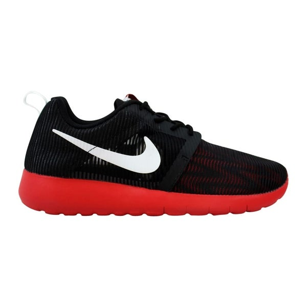 6b3d185730b35 Shop Nike Roshe One Flight Weight Black White Red 705485-006 Grade ...