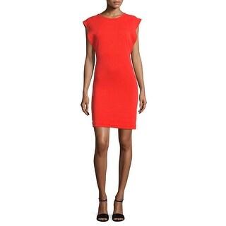 Free People Britt Britt Soft Cotton Blend Sleeveless Dress Red - s