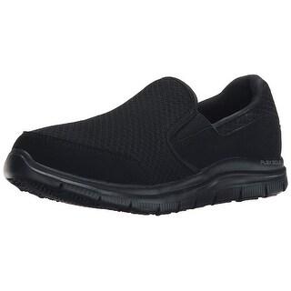 Skechers Work Relaxed Fit Cozard Sr Womens Slip On Loafers Black 9 W