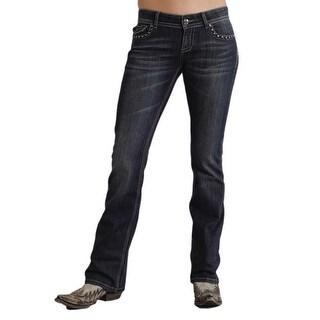 Stetson Western Denim Jeans Womens Bootcut Royal 11-054-0818-0290 BU