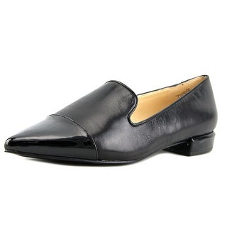 Nine West Trainer Women Pointed Toe Leather Black Loafer