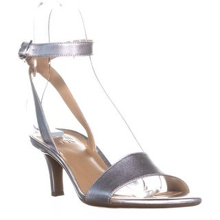 naturalizer Tinda Ankle Strap Sandals, Soft Silver Leather