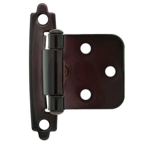 Traditional Steel Self-Closing Overlay Hinge (Sold as a Pair)