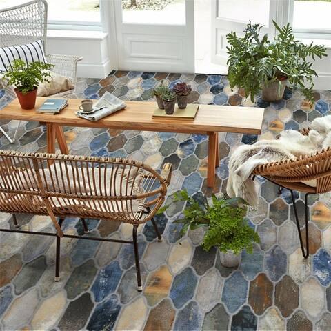 SomerTile Dorne Provenzal Mix 6.38x9.88-inch Porcelain Floor and Wall Tile - CASE