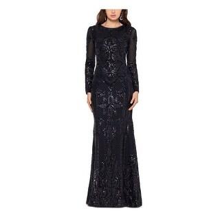Link to BETSY & ADAM Black Long Sleeve Full-Length Dress 14P Similar Items in Petites
