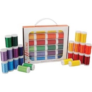 Iris Melrose Trilobal Polyester Thread Assortment 24/Pkg-Brights